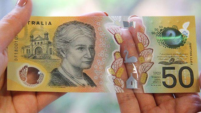 Australian 50 note with typo