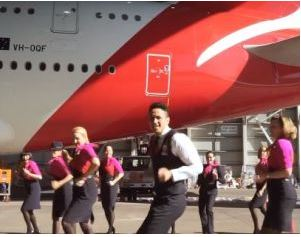 Qantas Air NZ Running Man Challenge